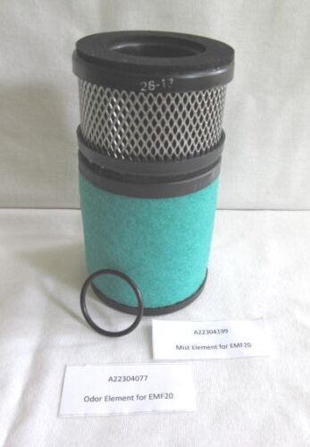 A223-04-199 and A223-04-077 Mist & Odor element set for EMF20 mist filter