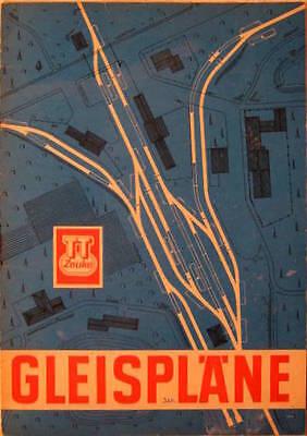 TT Zeuke 8 Bogen mit 17 Gleisplänen 1969 DDR Mappe Gleisplan Anleitung