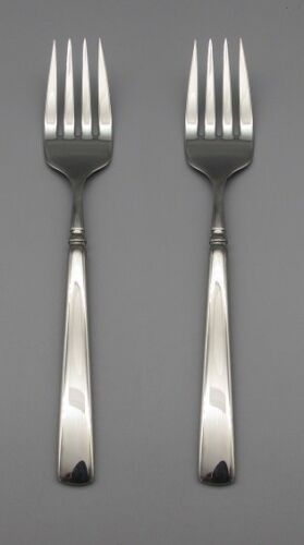 Oneida Stainless Flatware  EASTON (Glossy) Serving Forks - SET OF TWO *