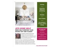 Household chores getting on top of you? Jo's Home Help Services is trustworthy, friendly & flexible