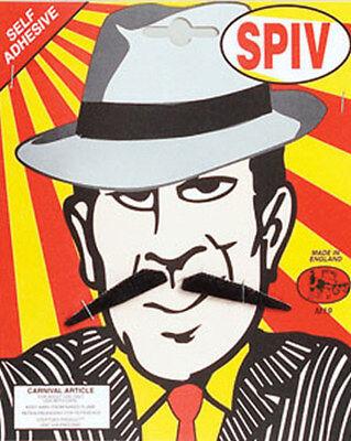 Spiv Black Moustache Tash 1920s Gangster Fancy Dress