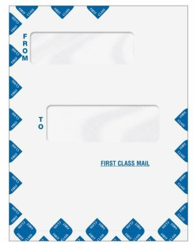 Offset Double Window First Class Mail Envelope - Expandable (80015EXP) 100/case