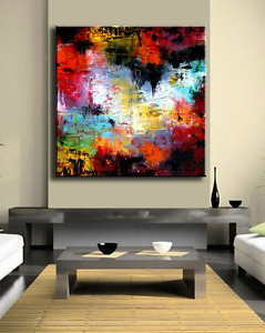 Beautiful Large Abstract Canvas Painting