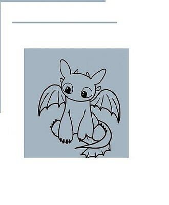 How to Train Your Dragon Toothless Little Car Vinyl die cut Decal Sticker
