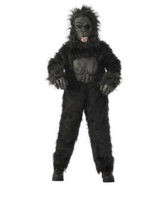 Gorilla Child Halloween Costume (Kids' Gorilla Halloween Costume Black Rubie's Costume Size XL Extra)