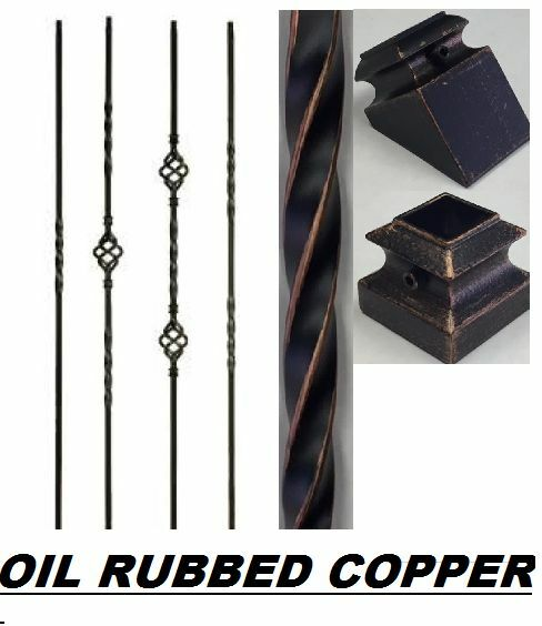 Купить Iron Balusters Iron Spindles Metal Stair Parts Hollow Oil Rubbed Copper