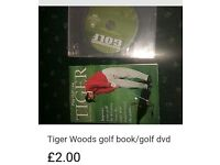 Tiger Woods book & golf performance dvd
