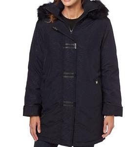 NEW black winter coat + used red wool dress coat