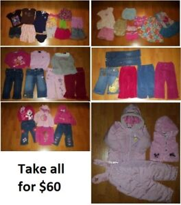 2T Girls Clothing Lot 1 (Take 45 Pieces for $60)
