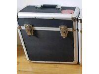 2 record storage boxes dj flight cases