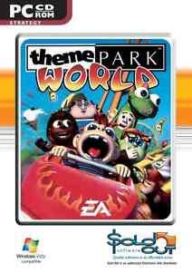 Theme Park World PC Game CD ROM - New & Sealed