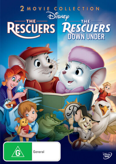 Disney: The Rescuers / The Rescuers Down Under  - DVD - NEW Region 4