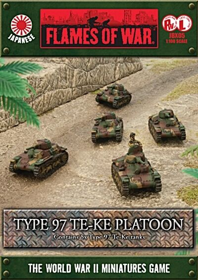Type 97 Te-Ke Platoon Tank (JBX05) 10-15mm Scale Flames Of War WWII Free UK P&P