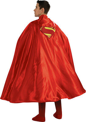 Red Superman Cape (Super Deluxe Superman Adult Cape Red Superhero Adult Cape One Size Fits)