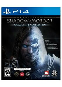 Shadow Of Mordor Game Of The Year PS4 (Text Preferred)
