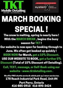 TKT Detailing Services - MARCH BOOKING SPECIAL !