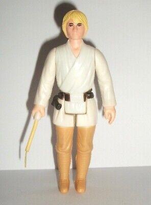 Vintage Star Wars Complete Luke Farmboy Figure - 1977 -  FF Hilt Lightsaber