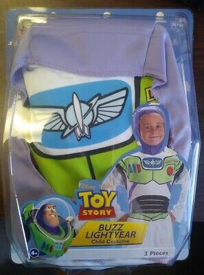 Toy Story Halloween Costume (NEW Disney's BUZZ LIGHTYEAR Toy Story Childs Costume 2 Piece SMALL 4-6)