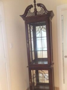 Just reduced:  Beautiful fine made curio cabinet