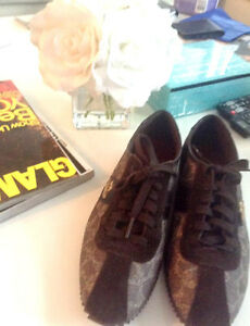 Brown Authentic Designer Coach sneakers for sale!