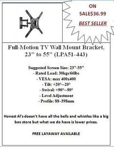 WE HAVE THE LOWEST PRICE ON TV WALL MOUNTS. PLEASE CHECK OUT ALL THE PICTURES.