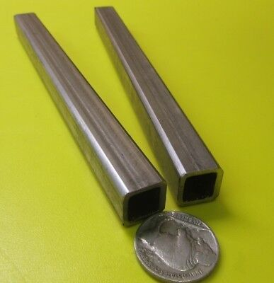 304 Stainless Steel Square Tube 12 Sq X .065 Wall X 6 Inch Length 2 Pcs
