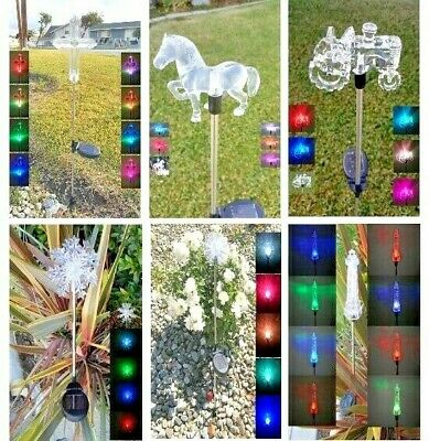 Solar Powered Garden Decor Stake Path Lawn Yard LED Outdoor Landscape Light - Powered Stake