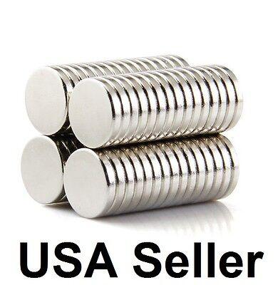 Lot 100 50 12mm X 2mm Neodymium Disc Strong Rare Earth N50 Small Fridge Magnets