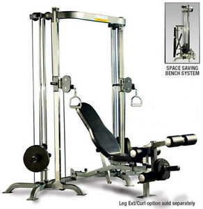 Powertec Cable Crossover/Functional Trainer with bench