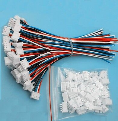 10 Sets New Xh2.54 4pin 1007 24awg Single End 15cm Wire To Board Connector