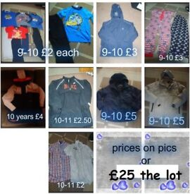 boys clothes 9-11 years
