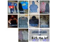 boys clothes 9-10 and 10-11 years from a smoke and pet free home collection only from didcot