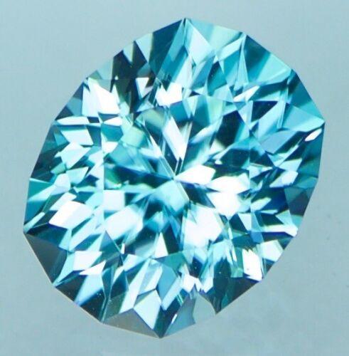 2.84ct Natural Blue Zircon ,Custom Cut ,Cambodia ,Video Link In Description!!