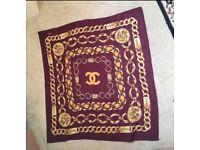 Maroon Vintage Chanel Scarf Excellent condition