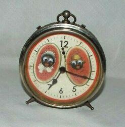 VINTAGE COPYRIGHT 1937 ORIGINAL ALARM CLOCK WORKING LOOK!!! READ!!!