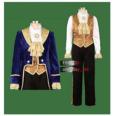 The Beauty and the Beast Prince Tuxedo Halloween Men's Cosplay Costume Good Made - Good Halloween Costumes Men
