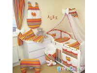 Cot heart bedding set