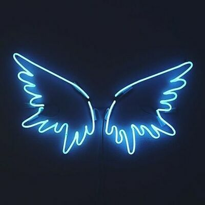 Angel Wings Blue Neon Sign Beer Bar Gift 14