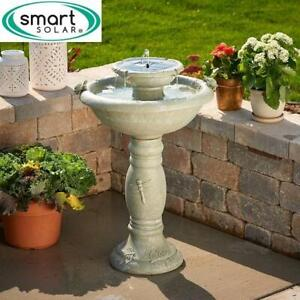 NEW* SMART SOLAR SOLAR FOUNTAIN 34222RM1 245068315 WEATHER STONE COUNTRY GARDENS 2 TIER