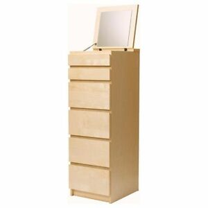 Chest of 6 drawers MALM with mirror - I AM LOOKING FOR THE WHITE