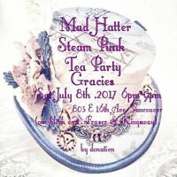 Mad Hatter Steam Punk Costume Charity Ball  by donation July 8th