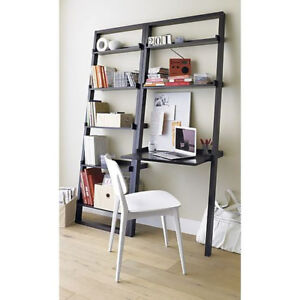 Leaning desk and bookcase - Crate and Barrel