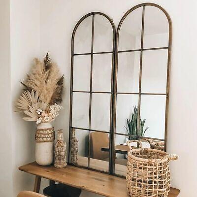 hamptons style antique brown set of 2 wall MIRROR  NEW 100x30 cm indoor outdoor