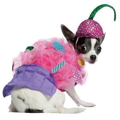 Haustier Hund Katze Süß Cupcake Futter Turnier Kleidung Kostüm Kleid Outfit (Cupcake Hund Kostüme)