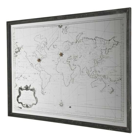 Extra large wall mirror world map antique style in ravenshead extra large wall mirror world map antique style gumiabroncs Images