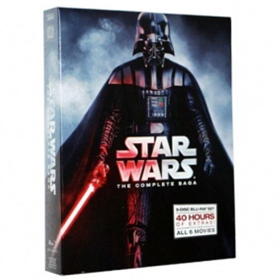 NEW Star Wars: The Complete Saga (Blu-ray Disc, 9-Disc Set, Boxed Set) Blu Ray *