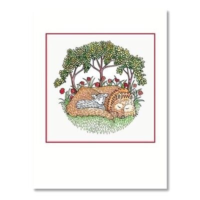10 Crane & Co William Arthur Peaceful Lamb and Wolf Blank Greeting Cards & Env ()