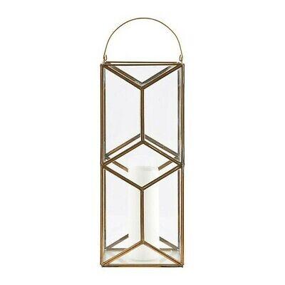 Designer diamond brass & glass extra large lanterns House Doctor *sale price*