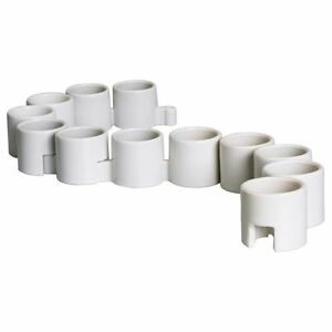 Ikea Ps Interlocking White Tea Lights Candle Holders Ceramic