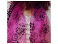 Pink roses wrap/scarf £3.50